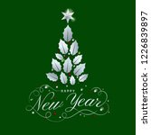 happy new year card design with ... | Shutterstock .eps vector #1226839897