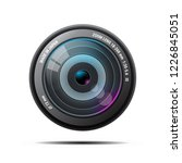 realistic camera photo lens on... | Shutterstock .eps vector #1226845051