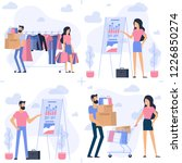 young man and woman at shopping.... | Shutterstock .eps vector #1226850274