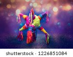 mexican pi ata party hanging on ... | Shutterstock . vector #1226851084