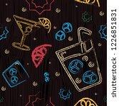 alcohol glasses seamless vector ... | Shutterstock .eps vector #1226851831