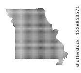pixel mosaic map of missouri on ...