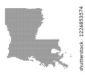 pixel mosaic map of louisiana...