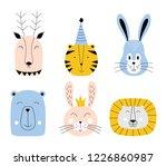 cute animals. baby card design. ... | Shutterstock .eps vector #1226860987