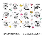 pregnancy mama mother quote set....   Shutterstock . vector #1226866654