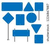 blank traffic road sign set ... | Shutterstock .eps vector #1226867887