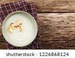 fresh homemade cream of... | Shutterstock . vector #1226868124