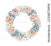 floral wedding invitation card... | Shutterstock .eps vector #1226873404