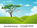 beautiful landscape background... | Shutterstock . vector #122687509