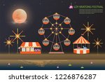 loy kratong festival background ... | Shutterstock .eps vector #1226876287