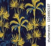 summer night tropical hand... | Shutterstock .eps vector #1226882137