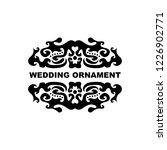 wedding ornament vector...   Shutterstock .eps vector #1226902771