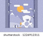 bear read and send messages on... | Shutterstock .eps vector #1226912311
