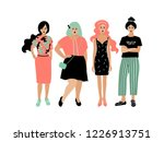 young fashion women  stylish... | Shutterstock .eps vector #1226913751
