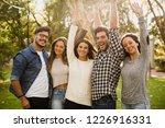 group of friends having  a... | Shutterstock . vector #1226916331