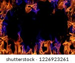 fire flames on black background | Shutterstock . vector #1226923261