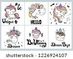 hand drawn vector unicorn...   Shutterstock .eps vector #1226924107