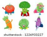 cute happy superhero vegetables ...   Shutterstock .eps vector #1226933227