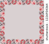 floral romantic frame with... | Shutterstock .eps vector #1226934364
