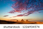 sunset at the pyramids  giza ... | Shutterstock . vector #1226934574