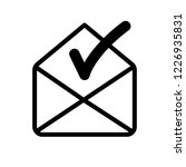 verified email address icon  | Shutterstock .eps vector #1226935831