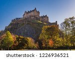edinburgh castle on hill  view...   Shutterstock . vector #1226936521