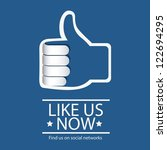 illustration icon social... | Shutterstock .eps vector #122694295