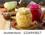sauerkraut variety preserving...   Shutterstock . vector #1226943817