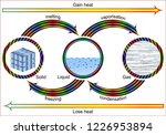 changes of phases of matter  | Shutterstock .eps vector #1226953894