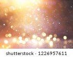glitter vintage lights... | Shutterstock . vector #1226957611