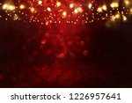 red  black and gold glitter... | Shutterstock . vector #1226957641