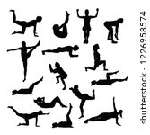 silhouettes of training women... | Shutterstock .eps vector #1226958574