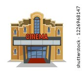 house   cinema  facade for city ... | Shutterstock .eps vector #1226968147