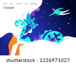 landing page design with... | Shutterstock .eps vector #1226971027