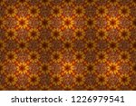 colorful seamless botanic... | Shutterstock . vector #1226979541