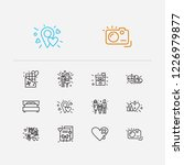 amour icons set. couple and...