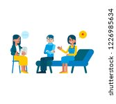 vector family psychotherapy...   Shutterstock .eps vector #1226985634