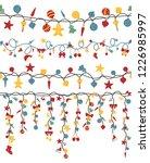 christmas light garlands set.... | Shutterstock .eps vector #1226985997