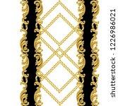 baroque golden repeatable... | Shutterstock . vector #1226986021