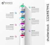 infographic design template.... | Shutterstock .eps vector #1226987941