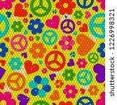hippie background realistic... | Shutterstock .eps vector #1226998321