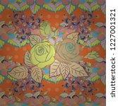 design of flowers in vintage... | Shutterstock .eps vector #1227001321