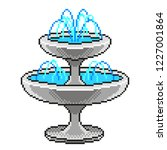 pixel art beautiful fountain... | Shutterstock .eps vector #1227001864