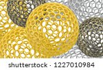 3d spheres with holes.... | Shutterstock . vector #1227010984