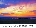 dramatic colorful sunset sky...   Shutterstock . vector #1227011677