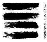 vector set of hand drawn brush... | Shutterstock .eps vector #1227015667