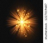 christmas star  radiance rays... | Shutterstock .eps vector #1227019687