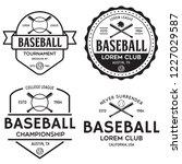 set of vintage baseball... | Shutterstock .eps vector #1227029587