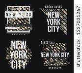 set of t shirt design in... | Shutterstock .eps vector #1227031267