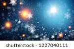 blue sparkling background with... | Shutterstock . vector #1227040111